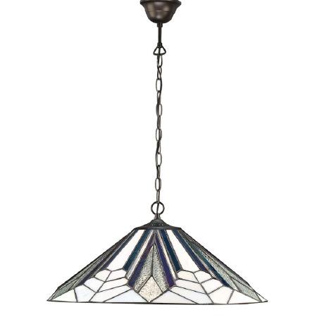 Interiors 1900 Astoria Tiffany Large Ceiling Pendant Light