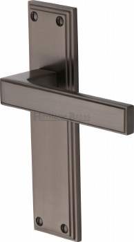 Heritage Atlantis Latch Door Handles ATL5710 Matt Bronze