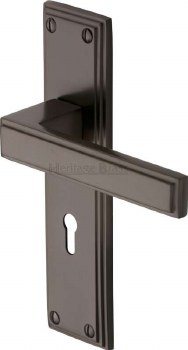 Heritage Atlantis Door Lock Handles ATL5700 Matt Bronze