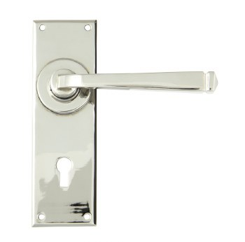 From The Anvil Avon Lever Lock Door Handle Set Polished Nickel