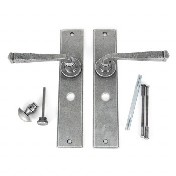 From The Anvil Avon Large Bathroom Door Handles Pewter