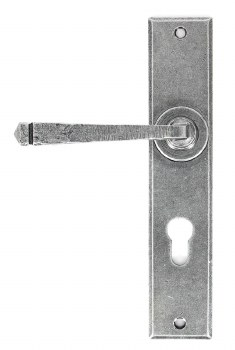 From The Anvil Avon Large Euro Lock Door Handles Pewter