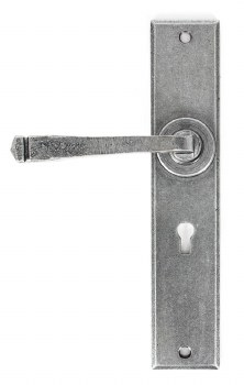 From The Anvil Avon Large Door Lock Handles Pewter