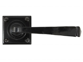 From The Anvil Avon Square Rose Door Handles Black Sprung