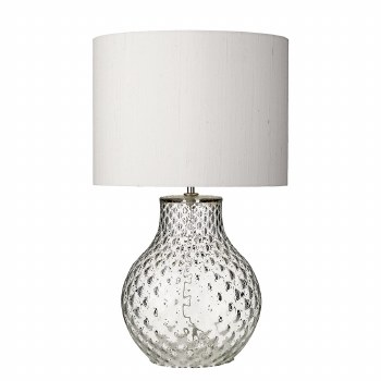 David Hunt AZO4108 Azores Glass Table Lamp Base Small Clear