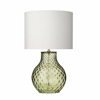 David Hunt AZO4124 Azores Glass Table Lamp Base Small Green
