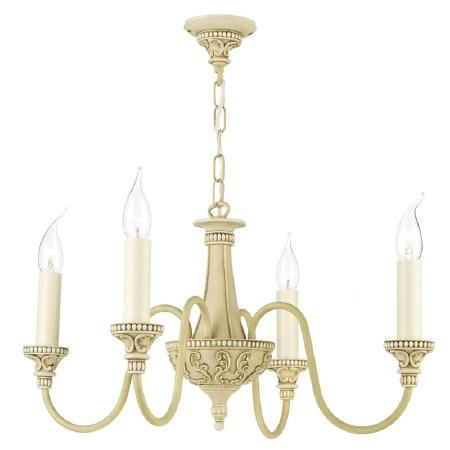 David Hunt BAI0445 Bailey 4 Arm Ceiling Pendant Light Antique Cream