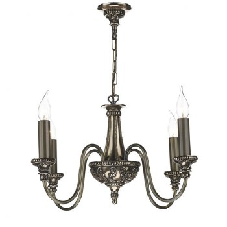 David Hunt BAI0463 Bailey 4 Arm Ceiling Pendant Light Rich Bronze