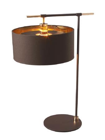Elstead Balance Table Light Brown & Brass