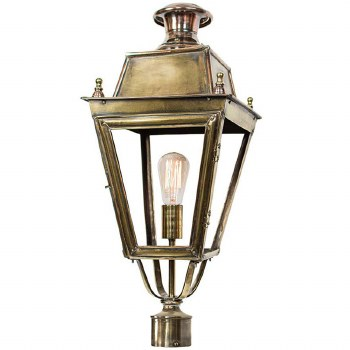 "Balmoral Lamp Post Head to suit 2"" dia. Light Antique Brass"