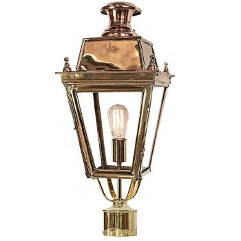 """Balmoral Lamp Post Head to suit 2"""" dia. Polished Brass Unlacquered"""