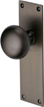 Heritage Balmoral Door Knobs Lever Latch BAL8510 Matt Bronze