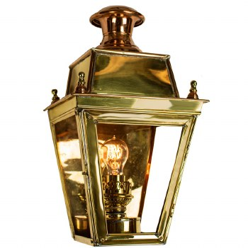 Balmoral Flush Outdoor Wall Lantern Polished Unlacquered Brass