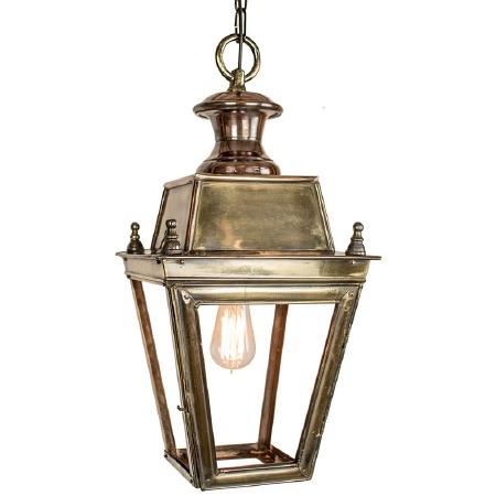 Balmoral Pendant Hanging 1 Light Lantern Light Antique Brass