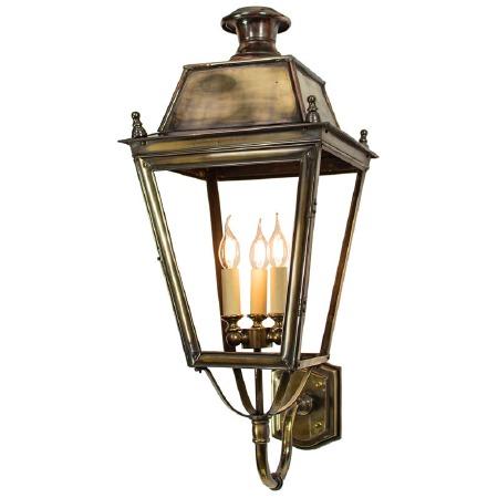 Balmoral Large Wall Lantern 3 Light Cluster Light Antique