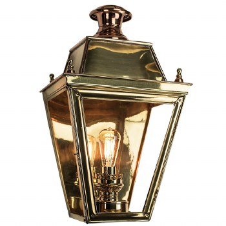 Balmoral Large Flush Outdoor Wall Lantern Polished Brass