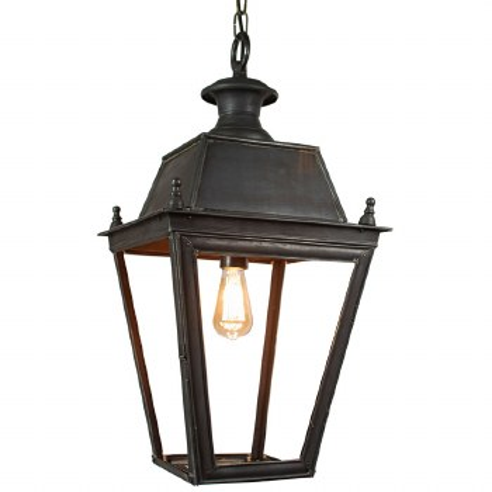 Balmoral Large Pendant with 1 Light Lantern Antique Brass