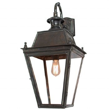 Large Balmoral Outdoor Wall Down Lantern Antique Brass