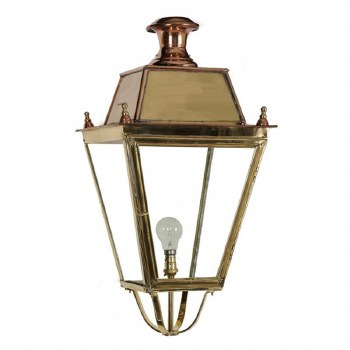 """Balmoral Large Lamp Post Head to suit 3"""" dia. Polished Brass"""