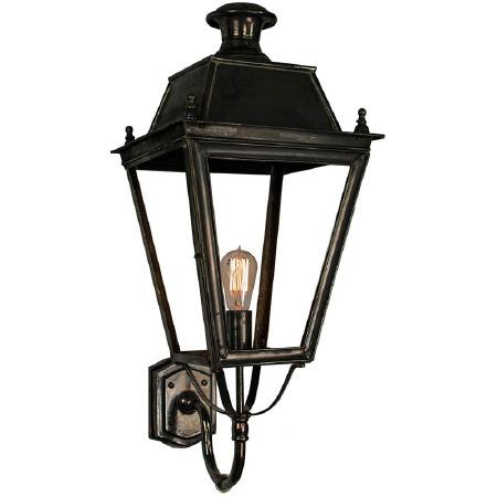 Balmoral Large Outdoor Wall Lantern Antique Brass