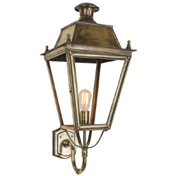 Balmoral Large Outdoor Wall Lantern Light Antique Brass