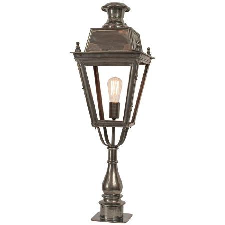 Balmoral Tall Pedestal Lantern Antique Brass