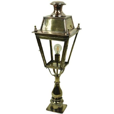 Balmoral Tall Pedestal Lantern Light Antique Brass