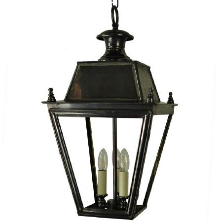 Balmoral Pendant with 3 Light Cluster Lantern Antique