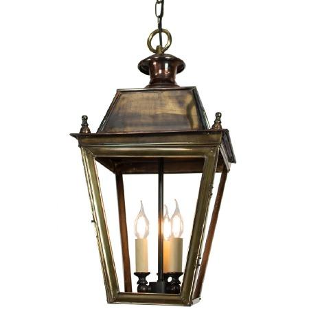 Balmoral Pendant with 3 Light Cluster Lantern Light Antique