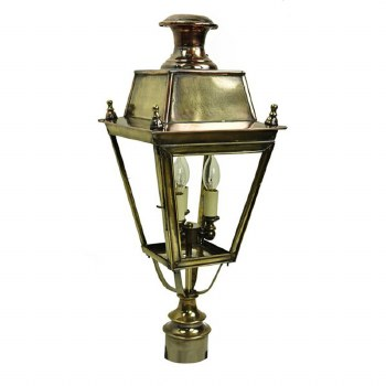 """Balmoral Lamp Post Head for 3"""" dia. Light Antique Brass"""