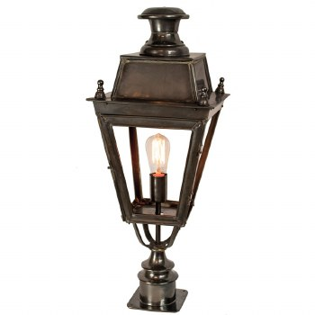 Balmoral Short Pillar Lantern Single Light, Antique