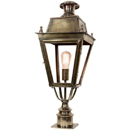 Balmoral Short Pillar Lantern Single Light, Light Antique