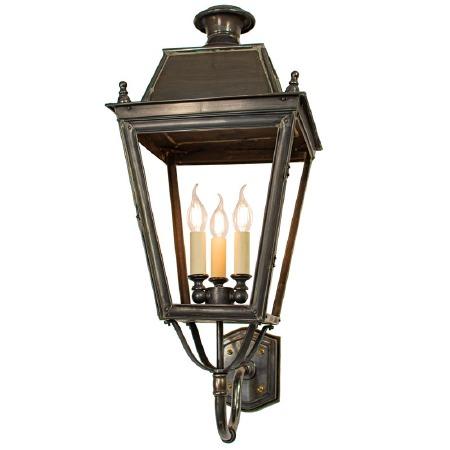 Balmoral Large Wall Lantern 3 Light Cluster Antique