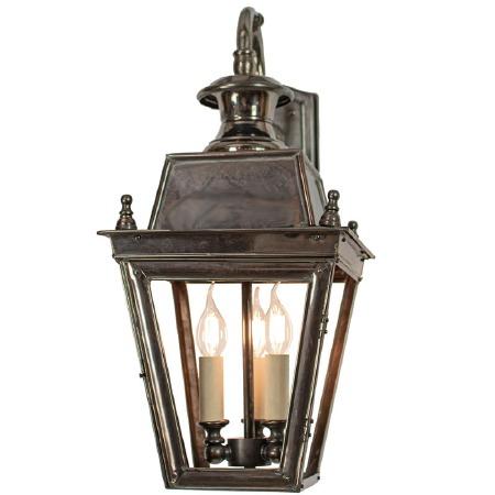 Balmoral Overhead Wall Lantern 3 Light Cluster Antique Brass
