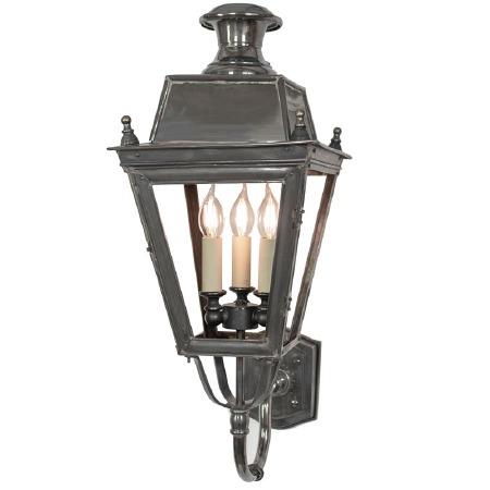 Balmoral Wall Lantern 3 Light Cluster Antique