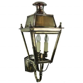 Balmoral Wall Lantern 3 Light Cluster Light Antique