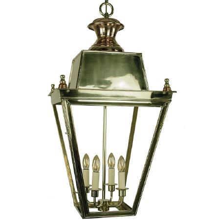 Balmoral Lantern Extra Large Polished Brass Unlacquered
