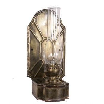 Barnsbury Flush Light, Light Antique Brass