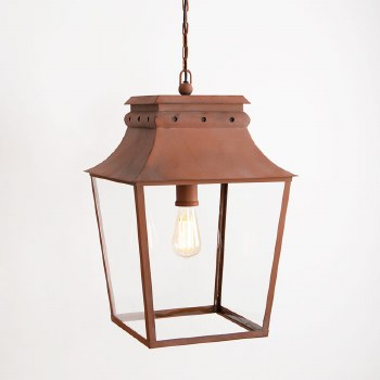 Bath Hanging Lantern Large Corten Steel