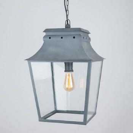 Bath Hanging Lantern Large Zinc
