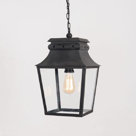 Bath Hanging Lantern Small Black