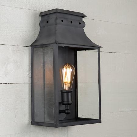Bath Wall Lantern Medium Black