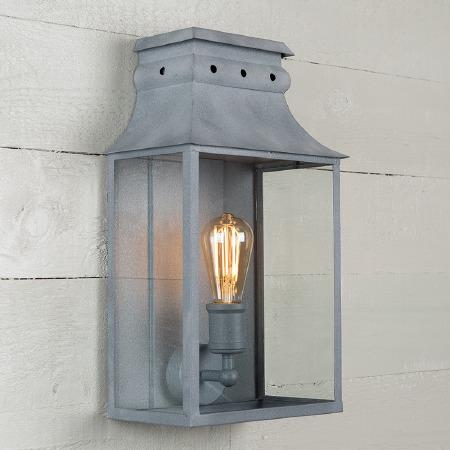 Bath Wall Lantern Medium Zinc