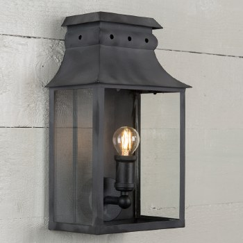 Bath Wall Lantern Small Black
