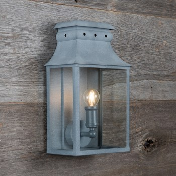 Bath Wall Lantern Small Zinc