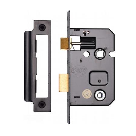 """Heritage Bathroom Lock YKBL2 Black 2.5"""""""