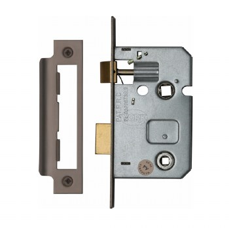 "Heritage Bathroom Lock YKBL2 Matt Bronze 2.5"""