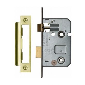 "Heritage Bathroom Lock YKBL2 Polished Brass 2.5"""