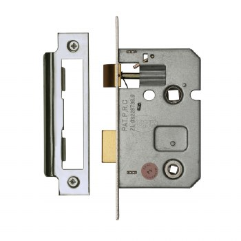 "Heritage Bathroom Lock YKBL2 Polished Chrome 2.5"""