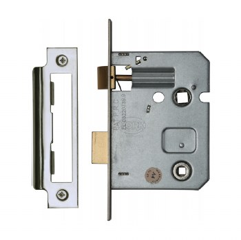 "Heritage Bathroom Lock YKBL3 Polished Chrome 3"""